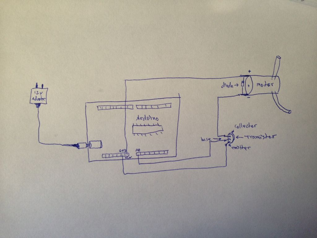 Automatically water your small indoor plant using Arduino + pump schematic