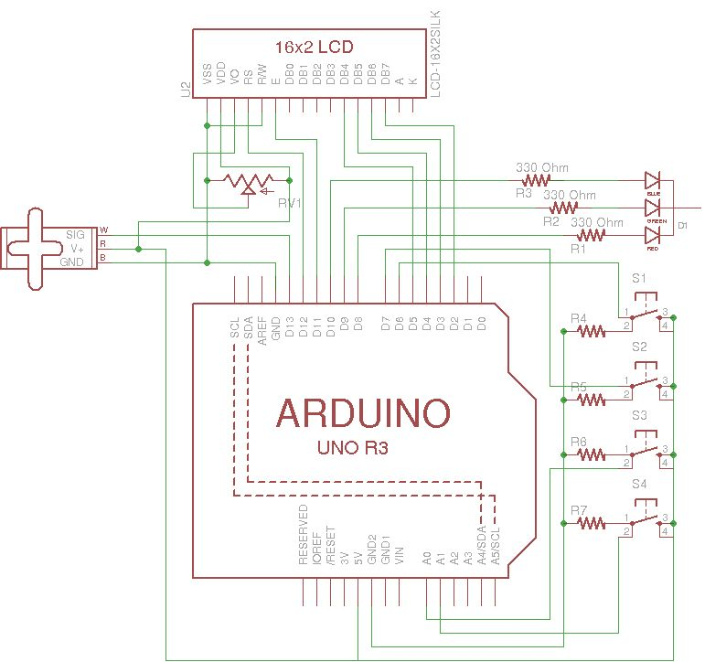 Cookies adminitrator box [Electronics only] using arduino schematic