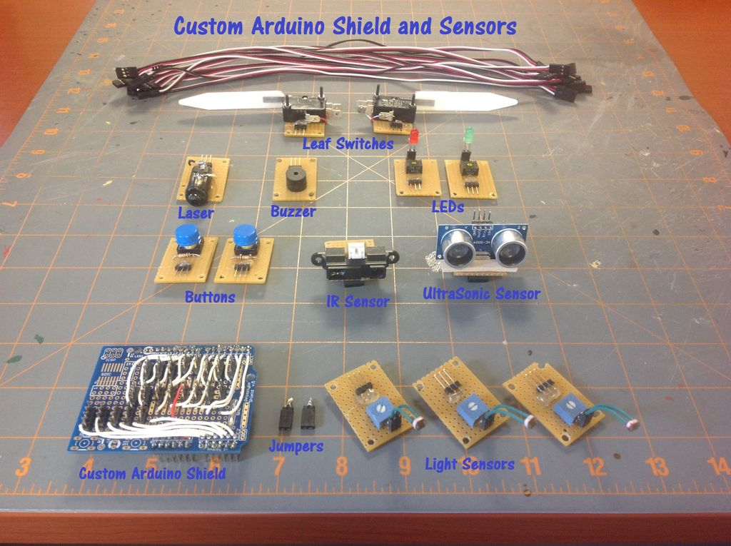 Custom Arduino Shield and Sensors
