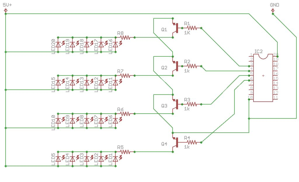 DIY Super Bright LED Skate Lights schematic
