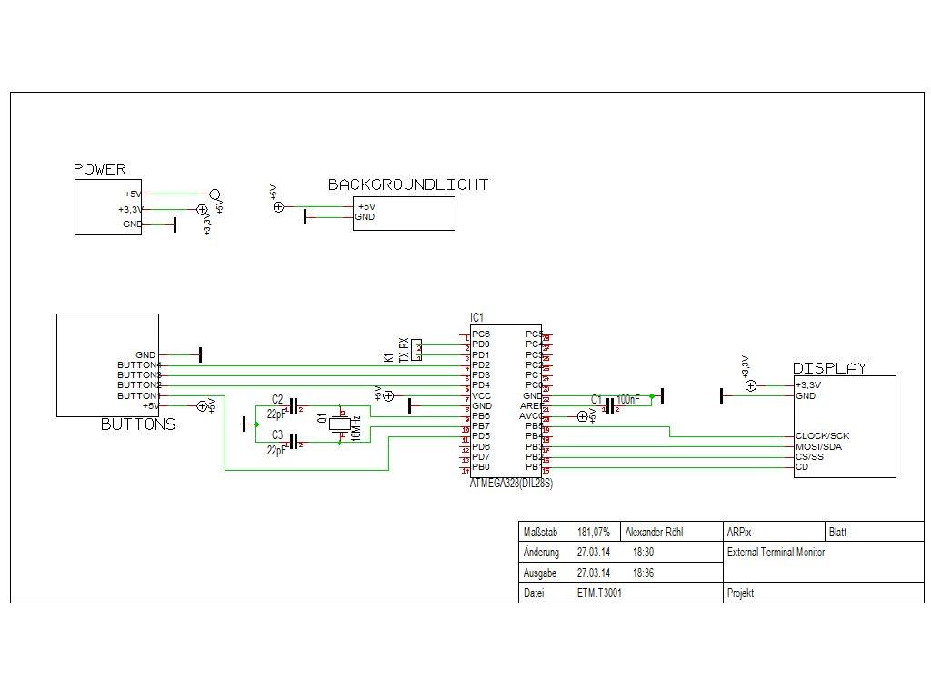 ESM - ExternalSerialMonitor schematic