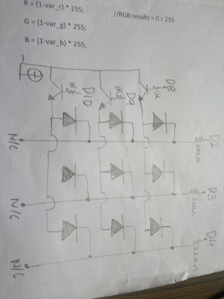 Kaleiduino - A Battery Powered Arduino LED Kaleidoscope schematic