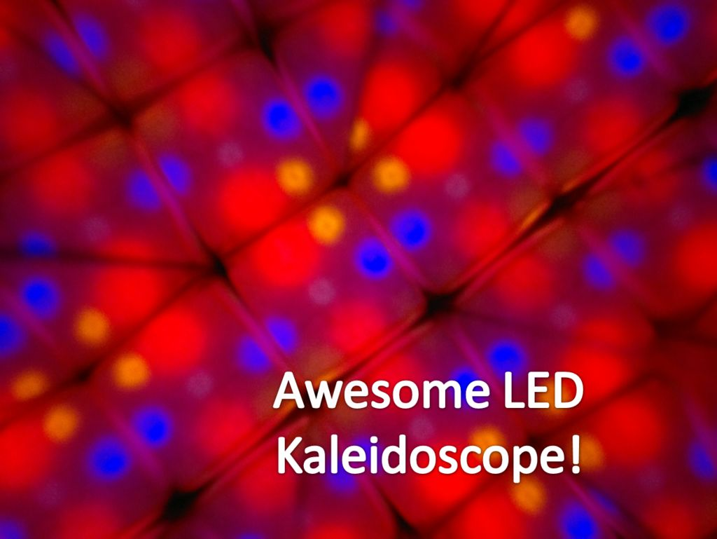 Kaleiduino - A Battery Powered Arduino LED Kaleidoscope