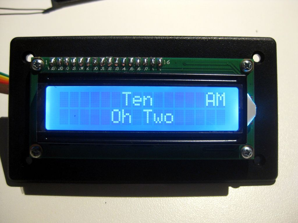 LCD Word Clock using Arduino