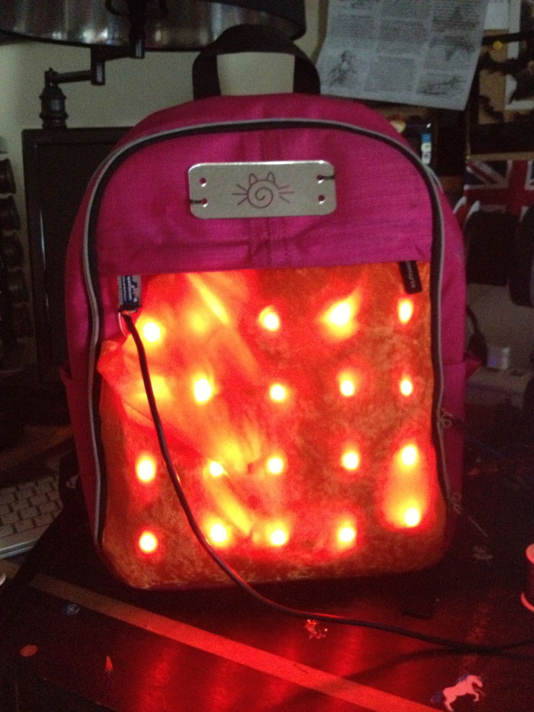 LED Matrix Bike Safety Backpack using arduino