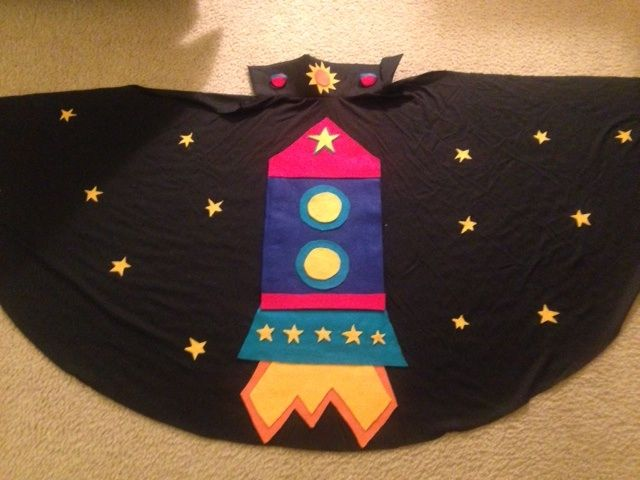 Lilypad Arduino Rocket Ship Cape