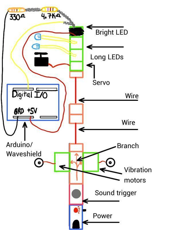 LittleBitty Joe using arduino shchematic