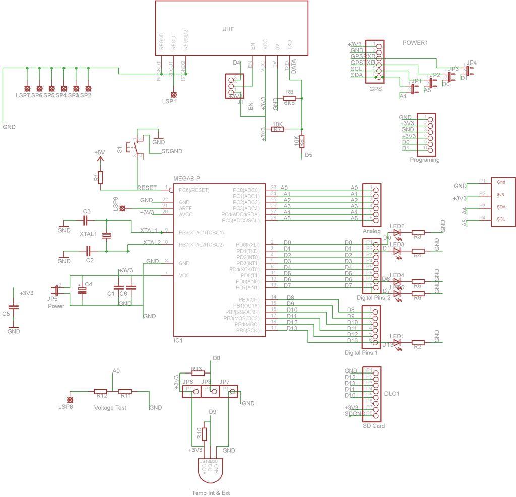 Make a High-Altitude Balloon Tracker (Arduino) schematic
