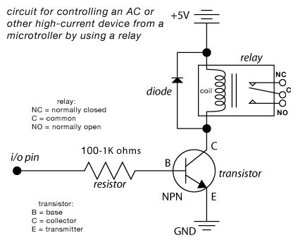 Microcontrolled AC switch using arduino schematic