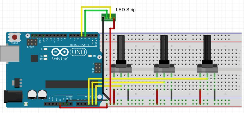 Monitor - Thinking Skins using Arduino circuit