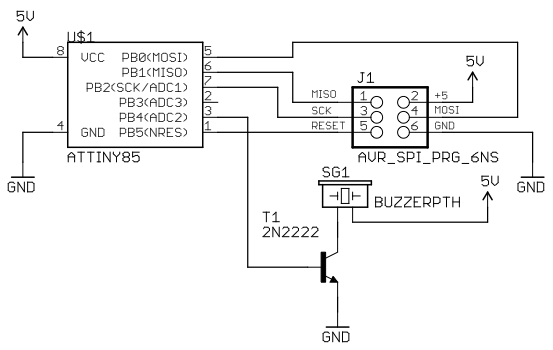 Morse-code trainer schematic