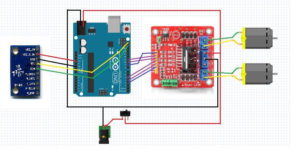 Self-Balancing Robot circuit