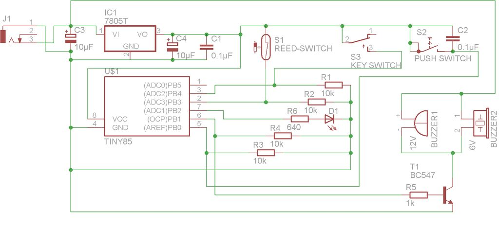 Simple Basement Security System using Arduino schematic