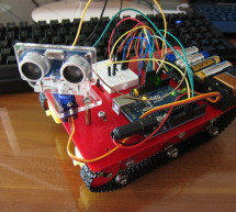 Smart Tank Chassis with Ultrasonic Sensor using Arduino