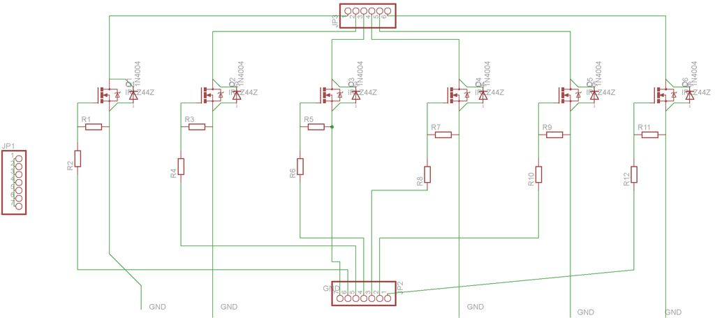 SmartMesh - Arduino and Android Controlled Pneumatic Facade schematic