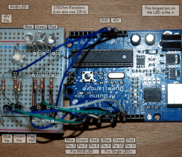 Using Processing to Send Values using the Serial Port to Arduino circuit
