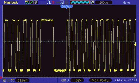 12kbps simple audio data transfer for AVR