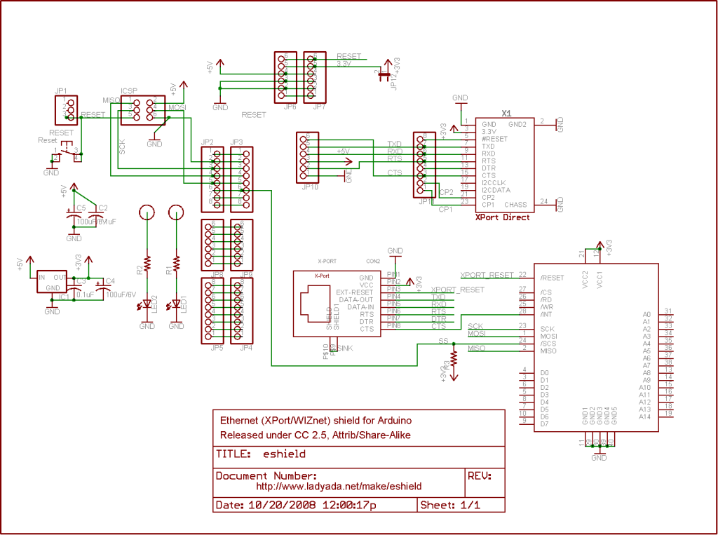 Arduino Online Thermometer Project schematic