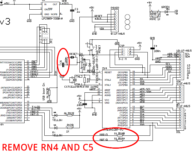 Arduino Uno – Programming With A Serial Port schematic