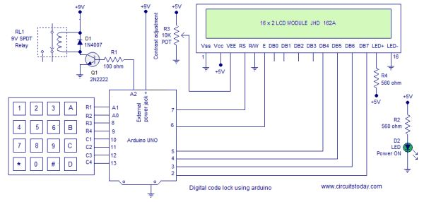 Digital Code Lock using Arduino with LCD Display -Use