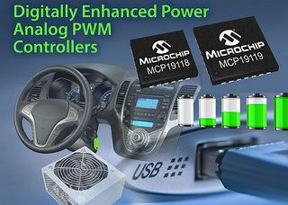 New Digitally Enhanced Power Analog Controllers From Microchip