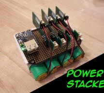 Stackable USB Rechargeable Battery System
