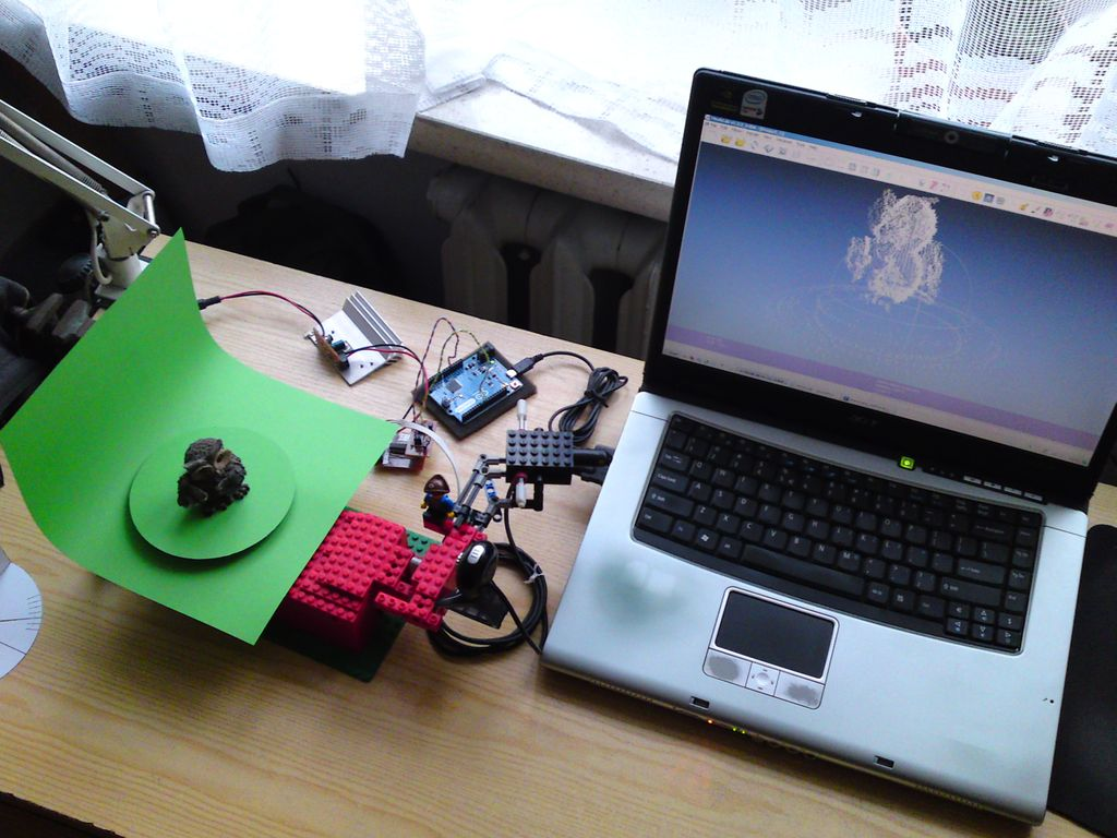 3D scanner based on Arduino and Processing