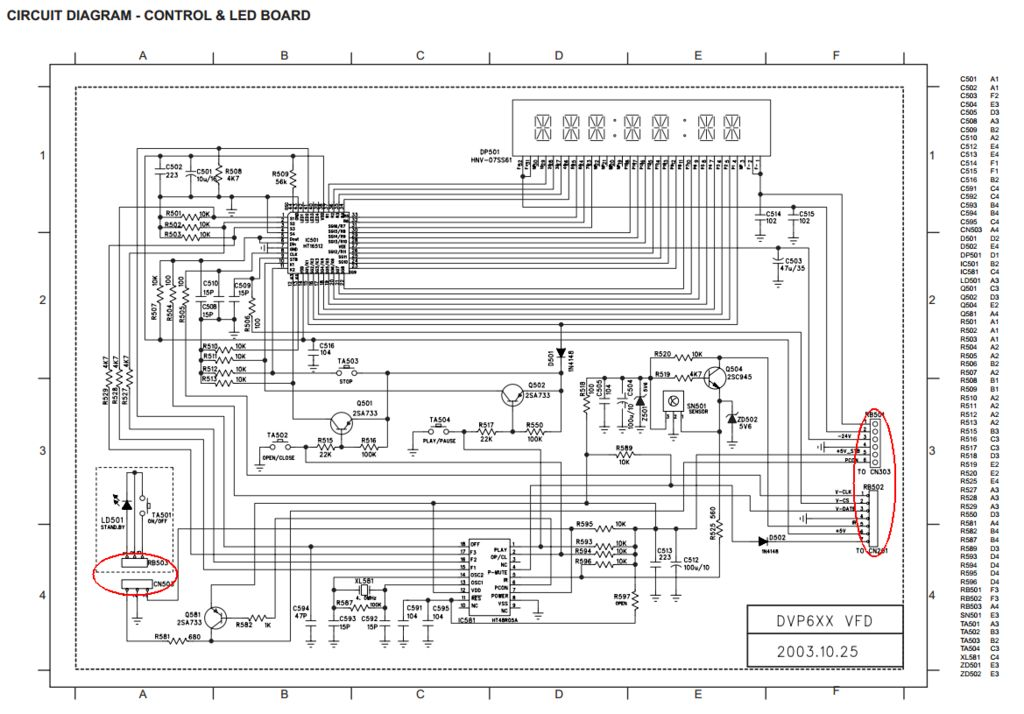 A DVD Player Hack schematic