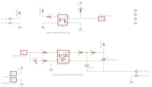 AC Dimmer Circuit - 46 schematic