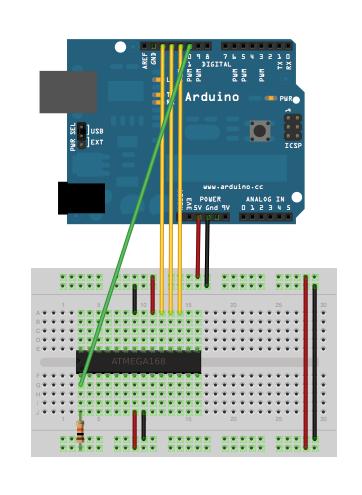 AVR Programming Tutorial circuit