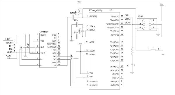 An Arduino Compatible Using CP2102 -Use Arduino for Projects