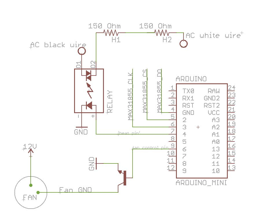 Arduino PCR (thermal cycler) for under $85 schematic