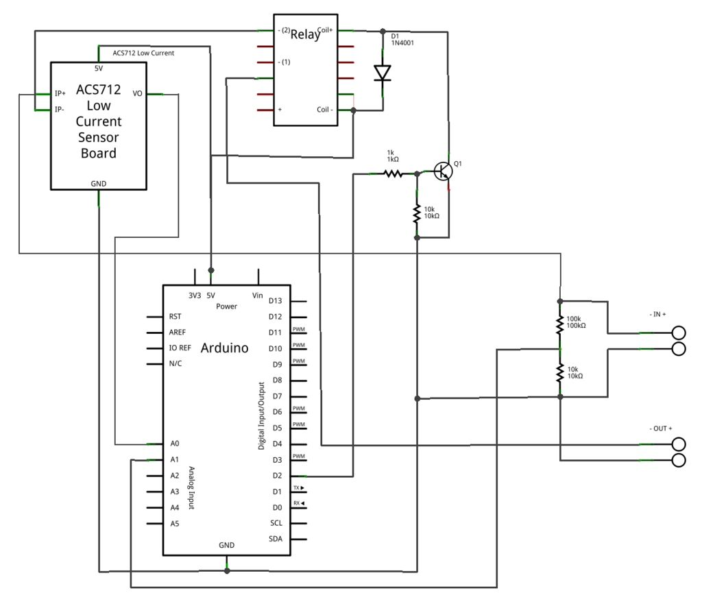 Arduino-based energy consumption monitoring shield schematic