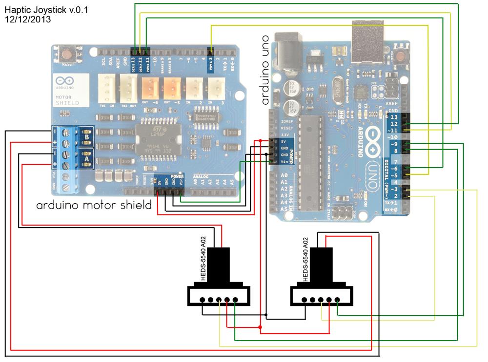 Blind Maze Navigation using 2-DOF Haptic Joystick schematic