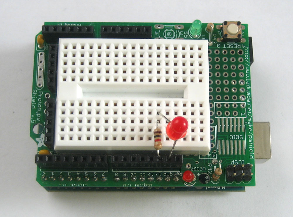 Breadboard and LEDs