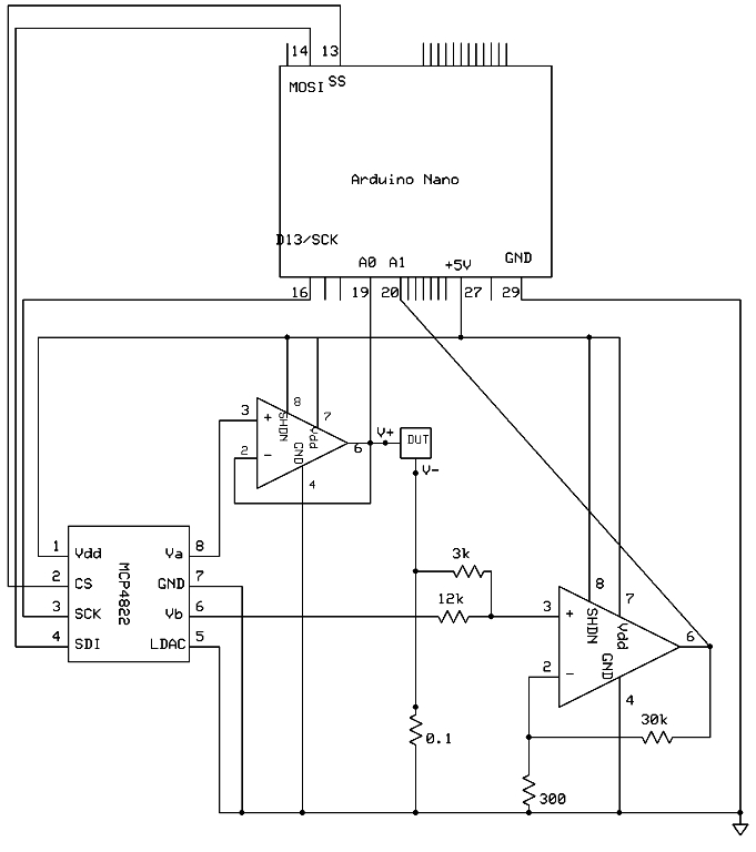 Build Your Own Sourcemeter circuit