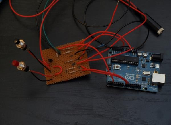 Capture the image of a falling object using Arduino