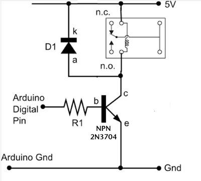 dc motors relays