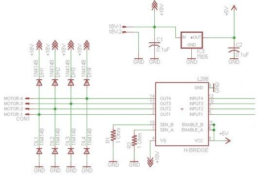 DIY Arduino Motor Shield schematic