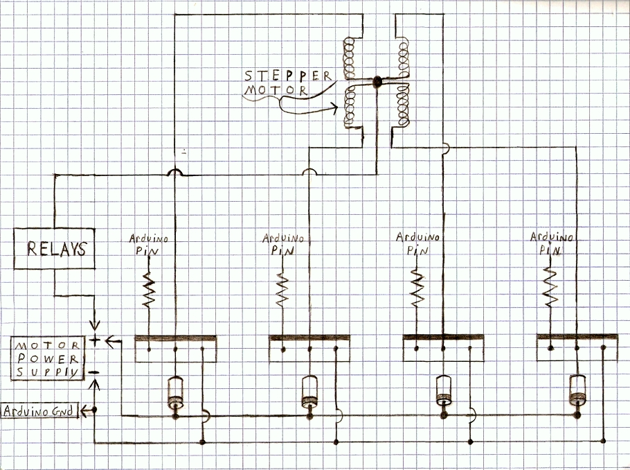 DIY Arduino Stepper Motor Driver Board schematic