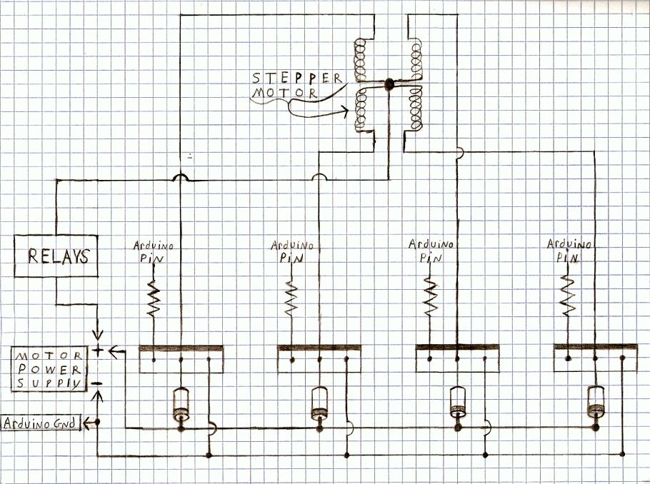DIY Arduino Stepper Motor Driver Board schematic