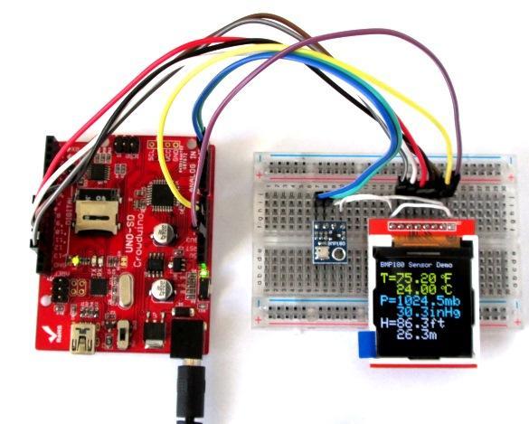 Interfacing BMP180 temperature and pressure sensor on Arduino UNO