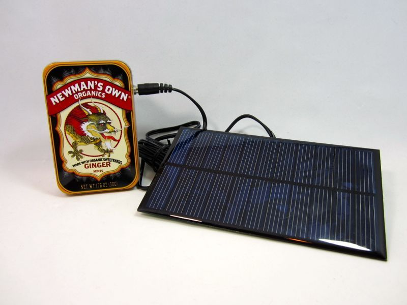 Lithium Battery Solar USB - iPhone - Arduino Charger