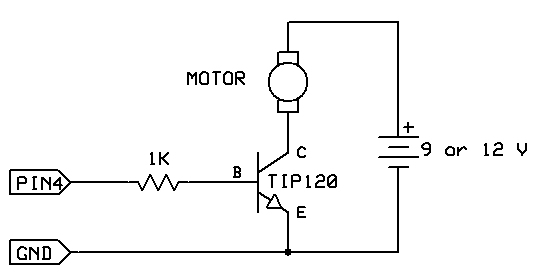 MOTOR SWITCH LED circuit