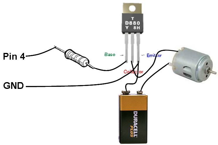 MOTOR SWITCH LED