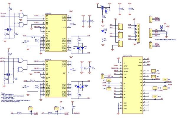 Pololu Dual MC33926 Motor Driver Shield for Arduino Diagram