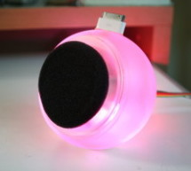 RGB flashing iPod dock from an old speaker