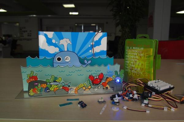Sea Fun - A Live Paper Toy By Basic Electronic Modules