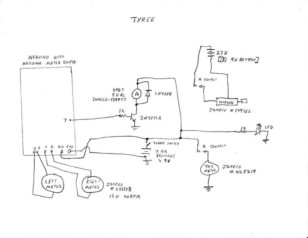 Sensor Less 3d Printed Robot schematic