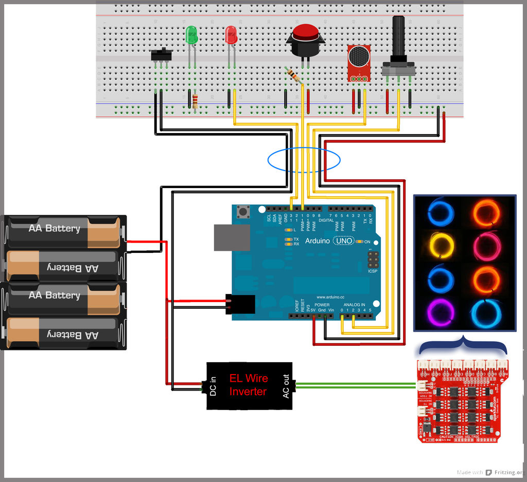 Sequenced and Sound Activated with Remote Control circuit